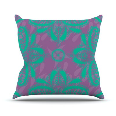 Motifs by Nandita Singh Throw Pillow Size: 18 H x 18 W x 3 D, Color: Purple