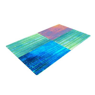 Nina May Crayon Batik Blue/Pink Area Rug Rug Size: 2 x 3