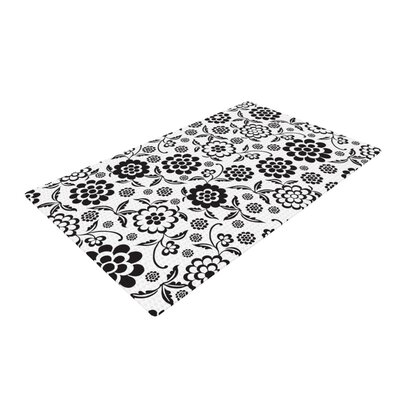 Nicole Ketchum Cherry Floral White Area Rug Rug Size: 2 x 3