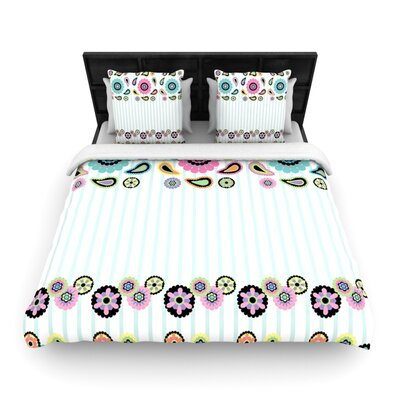 Paisley Party Paisley Flower Woven Comforter Duvet Cover Size: King