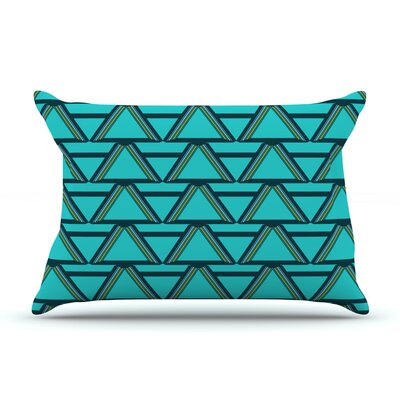Deco Angles by Nina May Featherweight Pillow Sham Size: Queen, Fabric: Woven Polyester