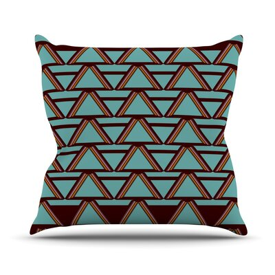 Throw Pillow Size: 18 H x 18 W, Color: Deco Angles Choco Mint