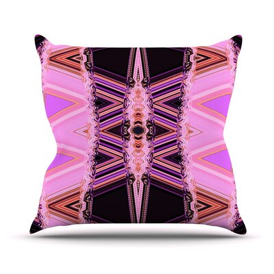 Throw Pillow Color: Decorama Pink, Size: 18 H x 18 W