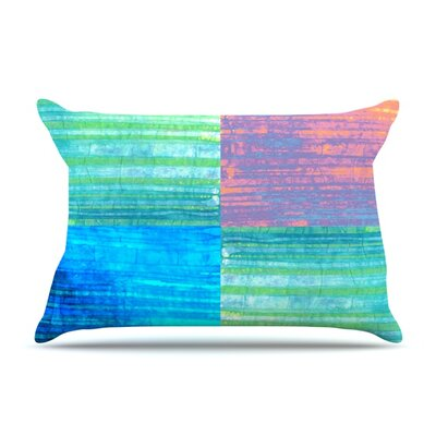 Crayon Batik by Nina May Featherweight Pillow Sham Size: Queen, Fabric: Woven Polyester