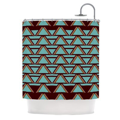 Shower Curtain Color: Deco Angles Choco Mint