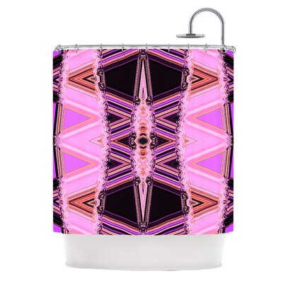 Shower Curtain Color: Decorama Pink
