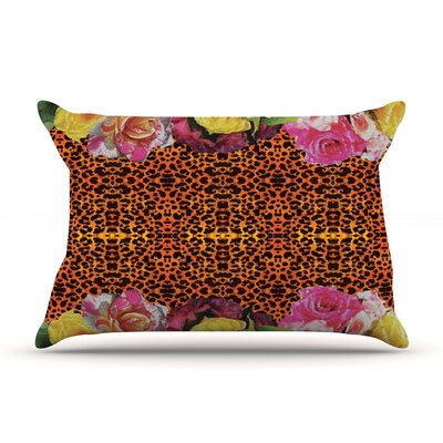 New Rose Eleo by Nina May Featherweight Pillow Sham Size: King, Fabric: Woven Polyester