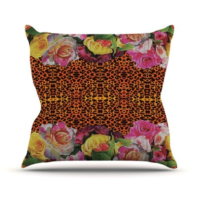 New Rose Eleo Throw Pillow Size: 18 H x 18 W
