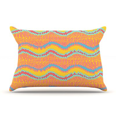 Pink Waves by Nandita Singh Featherweight Pillow Sham Size: King, Fabric: Woven Polyester