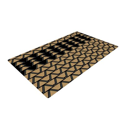 Nina May Deco Angles Gold/Black Area Rug Rug Size: 4 x 6