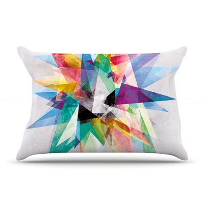 Mareike Boehmer Colorful Rainbow Abstract Featherweight Sham Size: King, Fabric: Woven Polyester