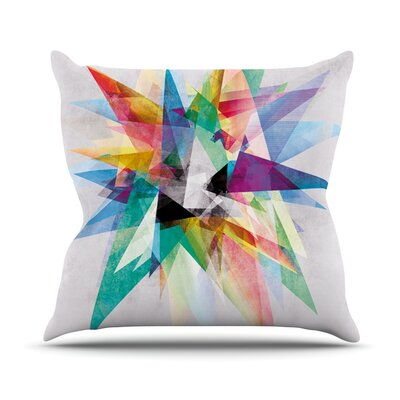 Colorful Rainbow Abstract Outdoor Throw Pillow Size: 18 H x 18 W x 3 D