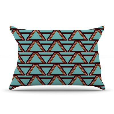 Deco Angels Choco Mint by Nina May Featherweight Pillow Sham Size: King, Fabric: Woven Polyester