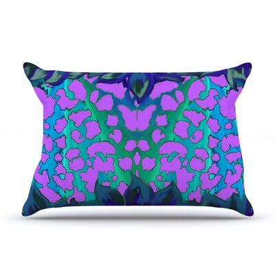 Nina May Cerruda Orchid Pillow Case Color: Teal