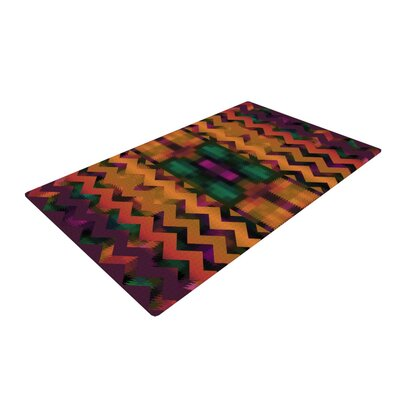 Nina May Harvesta Purple/Yellow Area Rug Rug Size: 2 x 3