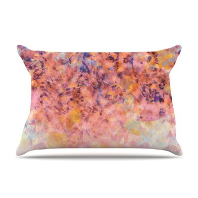 Blushed Geometric by Nikki Strange Featherweight Pillow Sham Size: King, Fabric: Woven Polyester