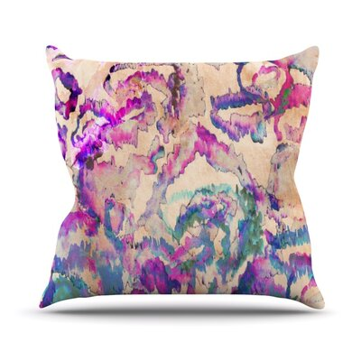 Weirdi Kat Throw Pillow Size: 18 H x 18 W