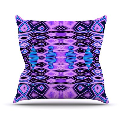 Deztecca Lilac by Nina May Throw Pillow Size: 16 H x 16 W x 3 D