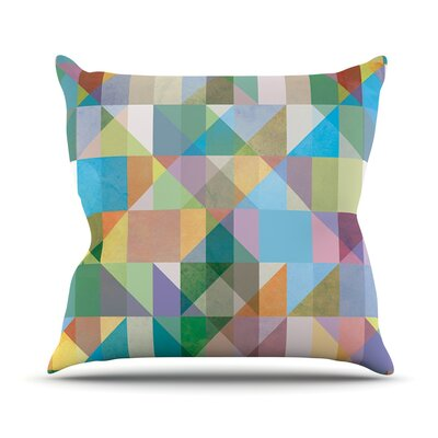 Graphic 74 by Mareike Boehmer Rainbow Abstract Throw Pillow Size: 18 H x 18 W x 3 D