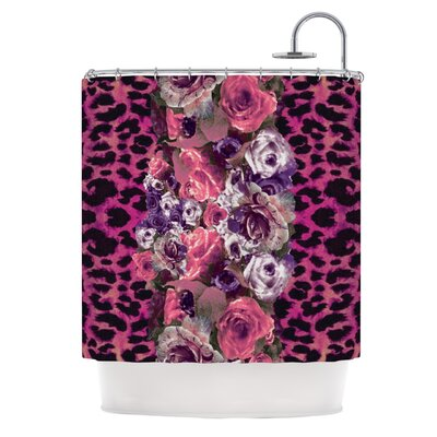 Rose Strip Shower Curtain