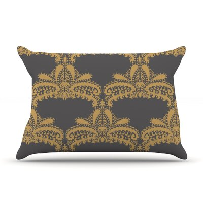 Decorative Motif by Nandita Singh Featherweight Pillow Sham Size: King, Color: Gold, Fabric: Woven Polyester