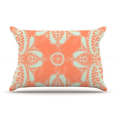Motifs by Nandita Singh Pillow Sham Size: Queen, Color: Peach/Orange, Fabric: Woven Polyester