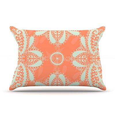 Motifs by Nandita Singh Pillow Sham Size: Queen, Color: Peach/Orange, Fabric: Woven Polyester