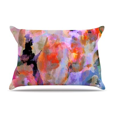 Painterly Blush by Nikki Strange Featherweight Pillow Sham Size: Queen, Fabric: Woven Polyester