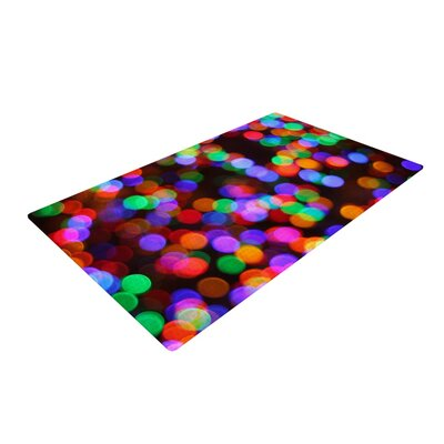 Maynard Logan Lights II Black/Pink Area Rug Rug Size: 2 x 3