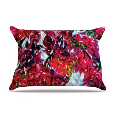 Bougainvillea by Mary Bateman Featherweight Pillow Sham Size: King, Fabric: Woven Polyester