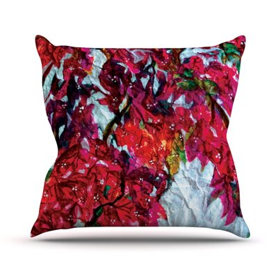 Bougainvillea Throw Pillow Size: 16 H x 16 W