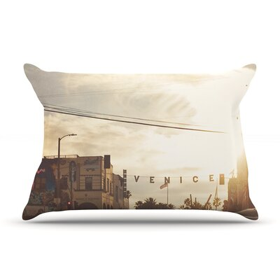 Myan Soffia Winter In Venice Clouds Sky Pillow Case