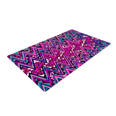 Nika Martinez Electric Chevron Pink Area Rug Rug Size: 2 x 3