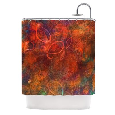 Tie Dye Paisley Shower Curtain