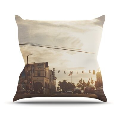 Winter in Venice by Myan Soffia Clouds Sky Throw Pillow Size: 16 H x 16 W x 3 D