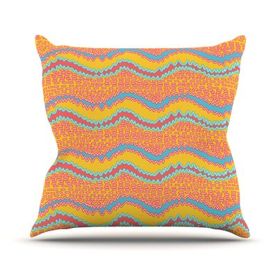 Waves by Nandita Singh Throw Pillow Size: 18 H x 18 W x 3 D