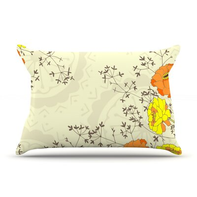Flowers and Twigs by Nandita Singh Featherweight Pillow Sham Size: King, Fabric: Woven Polyester