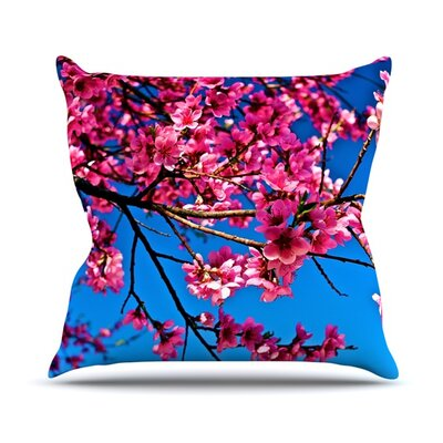 Flowers Throw Pillow Size: 18 H x 18 W