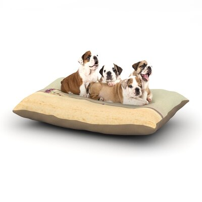 Myan Soffia Toffee - Marshmallow Sandy Beach Dog Pillow with Fleece Cozy Top Size: Small (40 W x 30 D x 8 H)