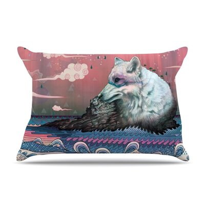 Lone Wolf by Mat Miller Featherweight Pillow Sham Size: Queen, Fabric: Woven Polyester