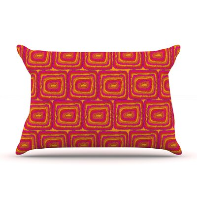 Bright Squares by Nandita Singh Featherweight Pillow Sham Size: King, Fabric: Woven Polyester