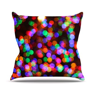 Lights II Throw Pillow Size: 26 H x 26 W