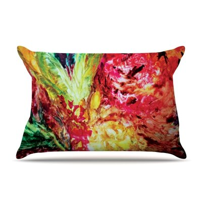 Passion Flowers I by Mary Bateman Featherweight Pillow Sham Size: Queen, Fabric: Woven Polyester
