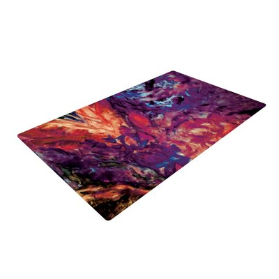 Mary Bateman Passion Flowers II Purple Area Rug Rug Size: 4 x 6