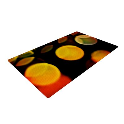 Maynard Logan Lights Yellow/Black Area Rug Rug Size: 2 x 3