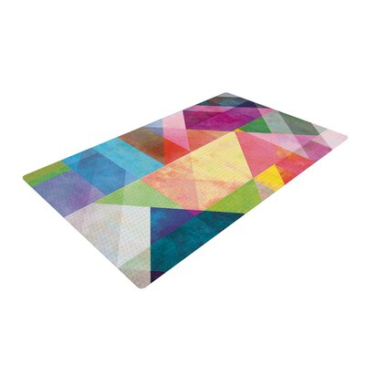 Color Blocking Rainbow Abstract Area Rug Rug Size: 2 x 3