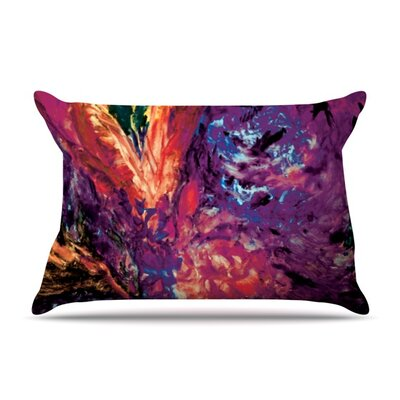 Passion Flowers II by Mary Bateman Featherweight Pillow Sham Size: King, Fabric: Woven Polyester