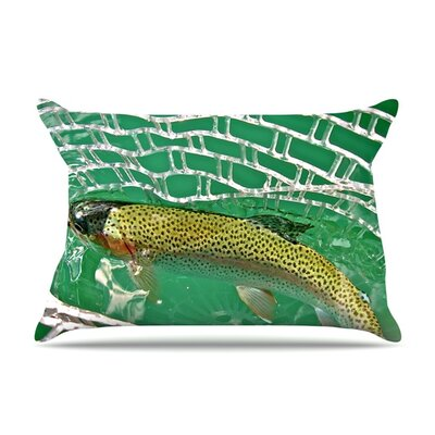 Catch by Maynard Logan Featherweight Pillow Sham Size: King, Fabric: Woven Polyester