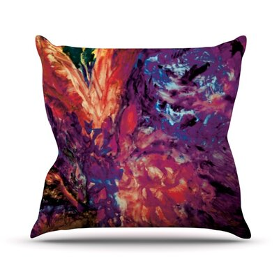 Passion Flowers II Throw Pillow Size: 26 H x 26 W