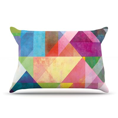 Mareike Boehmer Color Blocking Rainbow Abstract Featherweight Sham Size: Queen, Fabric: Woven Polyester